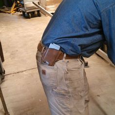 #iphonecase #holster in action. Asa Hoyt #metalworking and #blacksmith.  Asa and us sometimes do projects together. His first comment was: now that's something I could use.  #horween #horsehide #mensaccessories #ruggedstyle