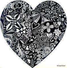 Wonderful heart zen-doodling from sissel Solem