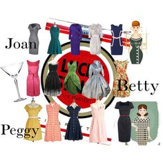 Mad Men Ladies fashions on Polyvore