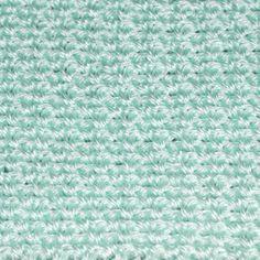 Easy Crochet Baby Blanket Pictures: Mint Green Crocheted Baby Blanket