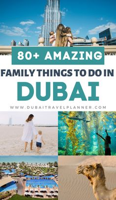 Planning a Dubai family vacation or stopover? This is the ultimate list of things to see and do that will be fun for all the family.  Hand picked by a long term UAE mum, these are tried and tested ideas across the city of Dubai and the emirate, indoors, outdoors, toddlers to adventurous teens. The best listing you will find for Dubai with kids! Family Vacation Destinations, Amazing Destinations, Dream Vacations, Travel Destinations, Dubai Travel, Asia Travel, Travel With Kids, Family Travel, Dubai Attractions