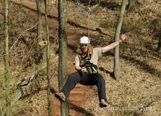 Zip lines at Red Mountain Park will let you fly through the trees