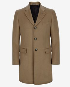 Wool and cashmere overcoat - Camel | Jackets & Coats | Ted Baker UK