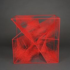 State of Being (Abstract) by Chiharu Shiota contemporary artwork Fractal Geometry, Invisible Cities, Architectural Sculpture, Art Sculpture, Cube Design, Contemporary Artists, Contemporary Artwork, Art For Art Sake, Japanese Artists
