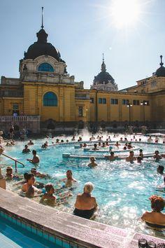 Szechenyi Baths, the largest baths in Budapest