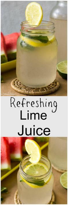 A refreshing beverage made with fresh lime juice and sweetened to taste with sugar and bitters. The perfect summer drink
