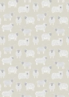 Half metre Lewis & Irene Patchwork Quilting Fabric Country Life - A94-2 Woolley Sheep on Natural