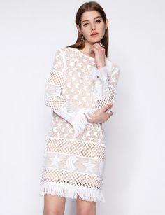 Crochet moon and stars dress #pruneforjune #stargazer