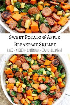 Sweet Potato and Apple Breakfast Skillet- Egg Free - The Bettered Blondie