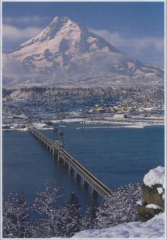 Columbia River Gorge, Hood River, OR with Mt. Hood in the background