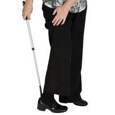 HealthSmart Adjustable Length Telescopic Shoe Horn - Products for Independent Living - MaxiAids  User-friendly dressing aid designed for easy shoe application that you can use while sitting or standing. This shoe horn is easily adjustable in length and features a hanging hook hole for easy storage. The length of this telescoping shoe horn easily adjusts from 21-7/8 to 32-3/8 inches, helping you easily put on your shoes while avoiding unnecessary painful bending.