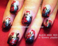 Robin Moses Nail Art: Spring Nail Art! New nail art tutorial up! Blue glitter…