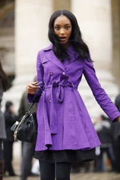 Pretty coat! I love the purple!