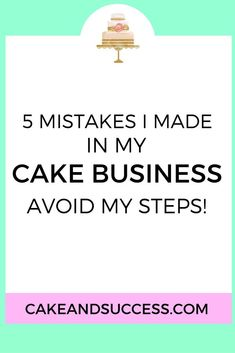 Avoid these 5 mistakes I made growing my cake business and pricing my cakes. How to price your cakes, cake decorating tutorial, sugar flower tutorial, cake tasting Home Bakery Business, Baking Business, Catering Business, Cake Business Names, Cake Shop Names, Running Cake, Bakery Names, Cake Pricing, Cake Name