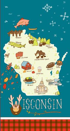 Awesome Wisconsin illustration by Taisha Bosher