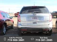2012 Ford Explorer XLT Silver $23,995 73353 miles 719-900-3881 Transmission: Automatic  #Ford #Explorer #used #cars #LimonChryslerJeepDodge #Limon #CO #tapcars