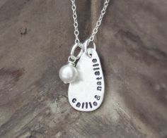 Simple Dew Drop Mommy Necklace