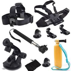 Go pro accesories set head chest mount go pro kit mount for SJ4000 gopro hero 4 3 2 1 Black Edition for xiaoyi sports camera