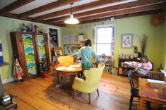 Soulemama's library - I often think I would like to move in.  Just give me a little corner...