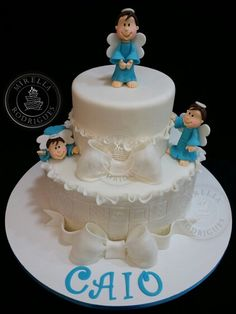 Bolo Batizado, Baptism cake by Mirella Rodrigues