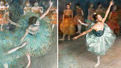 Misty Copeland imiteert het schilderij 'Swaying dancer'.