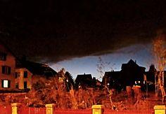 29. März 2013 - Einbruch der Nacht mit Gewitterwolken