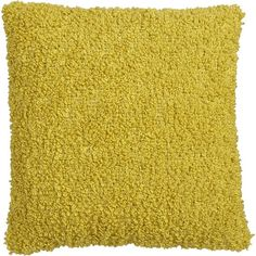 "items that are the color yellow | Aubree Boucle Yellow 18"" Pillow in New Sale 