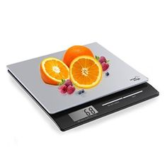 Smart Weigh professionelle digitale Küchen und Briefwaage mit großem Display und gehärteter Glasplattform