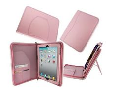 Amazon.com: rooCASE Executive Portfolio Genuine (Pink) Leather Case for 4th Generation iPad with Retina Display / the new iPad 3rd / Apple iPad 2 (Automatically Wakes and Puts the iPad to Sleep): Computers & Accessories  $43.98 Amazon prime