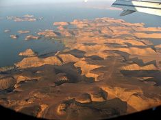 Lake Nasser, Egypt / 100 Incredible Views Out Of Airplane Windows
