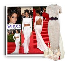"""""""Chanelling Rihanna"""" by fassionista ❤ liked on Polyvore featuring Erdem, Marchesa, GALA, Monsoon, Marina J., White House Black Market, Christian Louboutin, contestentry and yahoostyle"""
