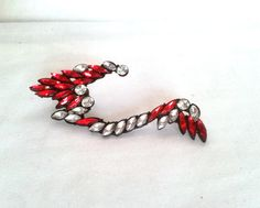 Gorgeous Red  Rhinestone Ear Cuff by LilyAndEllie.com, $22.00 One of the hottest trend of the year!