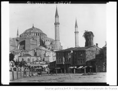 Sainte-Sophie mosque,Constantinople, 1915.(+ wooden houses...)