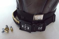 Fallout NCR Veteran Ranger Belts, Buckles, and Bullets for Vest - Post-Apocalyptic Wastlands Gear
