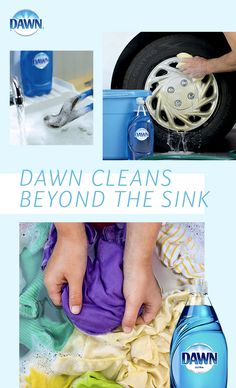 Dawn cleans more than just dishes. From grease in the kitchen to car, clothes, and tools. These are just a few of the many things Dawn can tackle. See a larger list here. Car Cleaning, Diy Cleaning Products, Cleaning Solutions, Spring Cleaning, Cleaning Hacks, Cleaning Supplies, Grill Cleaning, Diy Cleaners, Cleaners Homemade