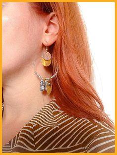 Boucles d'oreilles créoles bohèmes dorées et