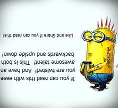 Top 30 Despicable me Quotes - Funny Minions Memes Minions Fans, Minions Quotes, Lol, Cool Illusions, Optical Illusions, Mind Tricks, Brain Tricks, Despicable Me, Funny Cute