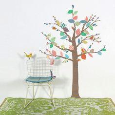 Mimilou muursticker boom kinderkamer arbre a motifs