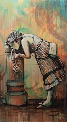 Water fountain girl by Alice Pasquini from alicepasquini.com