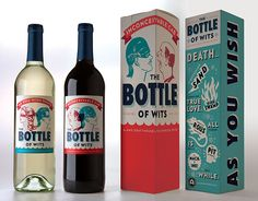 awesomely inconceivable wine! princess bride, packaging, red, blue, typography, illustrative, rad