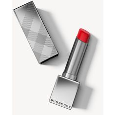 Burberry Kisses Sheer Military Red No.305 ($37) ❤ liked on Polyvore featuring beauty products, makeup, lip makeup, burberry makeup, glossier makeup, polish makeup, burberry and lip gloss makeup