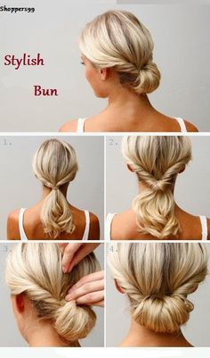 Bun #Hairstyle is an easy way to sport that is both fashionable & versatile.  Try This Stylish bun in just Simple Steps.   Be #Beautiful. Stay Tunned
