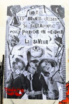 Paris 20 - quartier Ménilmontant - rue Julien Lacroix - street art - Madame moustache