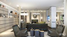 """Дом в """"Медовом"""": интерьер, квартира, дом, гостиная, современный, модернизм, 100 - 200 м2 #interiordesign #apartment #house #livingroom #lounge #drawingroom #parlor #salon #keepingroom #sittingroom #receptionroom #parlour #modern #100_200m2 arXip.com"""