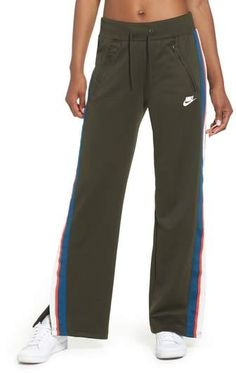 Nike Drawstring Track Pants In Sequoia/sail Womens Workout Outfits, Sport Outfits, Training Pants, Athletic Pants, Sport Pants, Outdoor Outfit, Nike Sportswear, Fashion Outfits, Men's Fashion