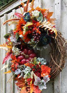 Fall Wreath Autumn Wreaths Tuscany Wreath Fall Floral