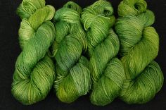 Bamboo yarn Touch of nature Vegan Organic Hand dyed by Klarabela