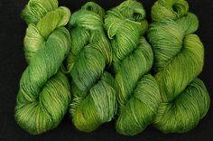 Bamboo yarn Touch of nature Vegan Organic Hand dyed by Klarabela