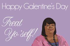the secret life of us.: galentine's day Donna says treat yo' self!