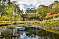 Enjoy our picture gallery of the log resort we built Eagle Brae Highland Log Cabins in the UK. These log cabins are set well apart around an old Highland broch just west of Inverness.